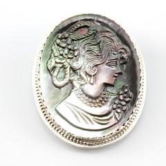 BAD 24/365, BAW 4/52 (inbarbareket) Tags: brooch jewelry sterlingsilver finesilver etsymetalchallenge shellcameo etsymetalteam inbarbareket bad24 bad24365 baw452