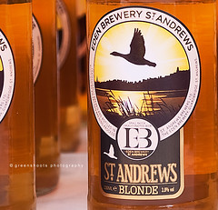 Everybody loves a blonde - and this is no exception! (Keith Gooderham) Tags: beer st scotland amber bottle andrews label craft brewery eden lager copyrightgreenshootsphotography kg130126018cweb1