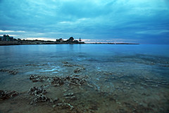 Coastal blue hour (-Filippos-) Tags: sea water coast cyprus shore late kypros protaras