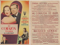 """Night Song"" Spanish Herald (addie65) Tags: couple 1940s hollywood drama moviescene filmnoir handbill vintagedress rko hollywoodland ethelbarrymore classicactor classicfilm danaandrews merleoberon fanphoto classichollywood nightsong vintagehollywood deceasedactors spanishherald"