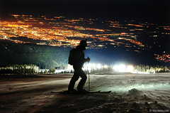 Vitosha ski over Sofia city (.:: Maya ::.) Tags: ski night sofia bulgaria vitosha      mayaeye mayakarkalicheva