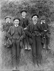 World Photo Day. (mcginley2012) Tags: blackwhite monochrome glassnegative oldphoto vintagephoto men portrait worldphotoday donegal ireland group trgriffith griffith