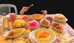 Palestinian food in Israel (jackfre2) Tags: israel haifa food arabfood palestinianfood restaurant plates oriental