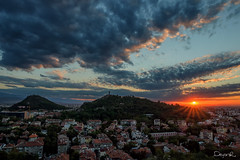 Sunset in Plovdiv (dontgiveacake) Tags: sunset plovdiv city scape clouds tepe