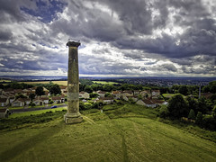 Keppel's Column From The Air. (Darren Flinders) Tags: scholes england unitedkingdom gb monument wentworth sky skyporn clouds cloudporn stormy stormclouds history rotherham summertime yorkshire southyorkshire keppelscolumn outdoors drone djiphantom3 hdr dxolabs dxoopticspro11 lightroom
