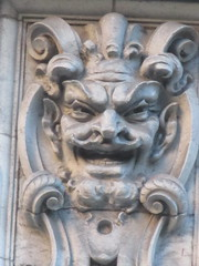 Satyr Gargoyles - The Ansonia Apartment Building 3979 (Brechtbug) Tags: satyr gargoyles the ansonia apartment building now condo upper west side new york city 2109 broadway between 73rd 74th streets built 1899 opened 1904 beaux arts architectural style mansard roof architect paul e m duboy featured 1992 film single white female bridget fonda jennifer jason leigh home pogo cartoonist disney animator walt kelly mobster arnold rothstein athletes jack dempsey babe ruth 8222016 nyc 2016
