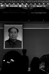 goodnight mao (tienanmen square - beijing, china) (bloodybee) Tags: mao zedong portrait forbiddencity beijing china asia travel street soldier guard tienanmen square people