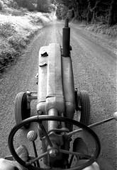 John Deere tractor (ektarama) Tags: ektarama film nikon fm 24mm bw tractor johndeere antique baldpeak oregon