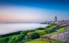 Calm sunset (jack.swinkels) Tags: lighthouse sea mar water rocks sunset sky longexposure nd neutraldensity blue tower peaceful relaxed view calm netherlands holland