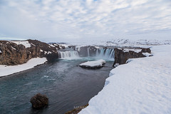 Beautiful Godafoss falls in cloudy day, Iceland (Kanonsky) Tags: attraction beautiful cascade cliff cloud cloudy cold europe famous flowing godafoss iceland landmark landscape nature outdoors peninsula powerful river sky spring stream sunshine waterfall winter