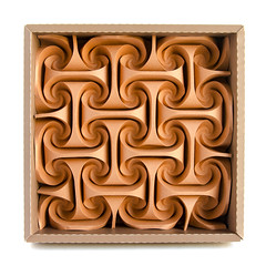 Inspiration-L #origami #tessellation #corrugation (_Ekaterina) Tags: brown origami tessellation corrugation ekaterinalukasheva twirls curls curved sand tant collapsible