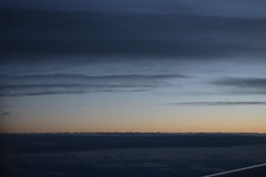 Twilight from the air. (cangrejo fotografiador) Tags: twilight sunset landscape clouds sky colors intheair nature canon