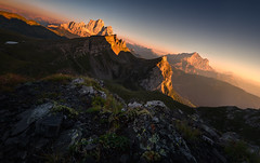 The Eagles View (@hipydeus) Tags: dolomites mountains peaks gold sunset summer lake stratosphere