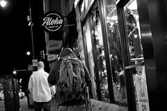 Late Night Walk (maui photographer) Tags: street aloha marques baclig mauiphotographer blackandwhite black white bw streetphotography belmont people monochrome monochromatic night nikonproject366 nikon d3300 dslr photography chicago chicagoland chitown