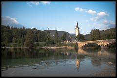 Lake Bohinj (Bora Alioglu) Tags: nikon d750 tamron slovenia slowenien bohinj lake bridge church see wide angle wideangle trees forest reflection stone slovenya gl kpr kilise kule aa orman geni a