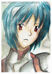 Rei Ayanami ( Niels Len  Ilustracin - sketch/Portafol) Tags: draw drawing colores color dibujo chile santiago art arte acuarela watercolor acrlico ilustration ilustracion work urban urbano city ciudad animales animals
