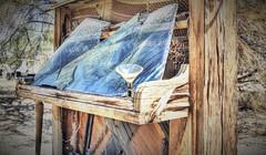 East Jesus Piano (Spebak) Tags: spebak abandoned desert california californiadesert southerncalifornia socal slabcity saltonsea eastjesus broken brokenwindow martini martiniglass piano deserted patina aged wood