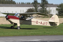 G-AJIT - 1946 build Kingsland Auster J/1, arriving at the 2012 Breighton Pre-Hibernation Fly-in (egcc) Tags: j1 kingsland auster continentalmotors 2337 breighton gajit o200 egbr prehibernationflyin