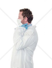 side view of a doctor wearing surgical mask (grigfood8877) Tags: man male standing photography uniform mask professional indoors whitebackground gloves doctor medicine studioshot sideview youngadult adultsonly stethoscope oneperson lookingaway caucasian surgeon occupation expertise surgicalmask laboratorycoat medicalinstrument colorimage oneyoungmanonly onemanonly generalpractitioner healthcareandmedicine professionaloccupation healthcareworker 2529years medicaloccupation protectiveworkwear