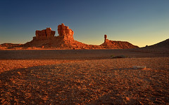 Desert Sunset Iconography (Fort Photo) Tags: sunset arizona nature landscape rocks glow desert dusk cliffs navajo redrock navajonation 2012a