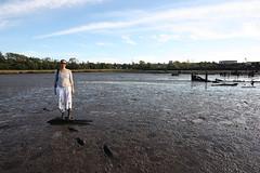 Before the deep mud (marmotfotos) Tags: newyork liz boat ruins mud shipwreck statenisland