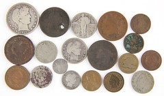 1004. (18) Miscellaneous Heavily Circulated Type Coins
