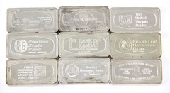 1015. (9) Franklin Mint 1000 Grain Sterling Silver Bars