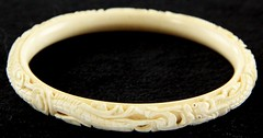 19. Carved Ivory Bangle