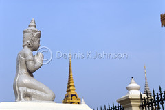 Silver Pagoda, Royal Palace, Phnom Penh (dkjphoto) Tags: travel silver garden temple pagoda hall asia cambodia southeastasia king khmer stupa buddhist capital royal monk palace phnompenh throne royalpalace kampuchea silverpagoda norodom dennisjohnson watpreahkeo