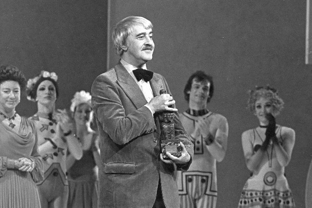 Kenneth MacMillan after being presented with the 1978 Evening Standard Award © Donald Southern