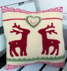 Nordic Reindeer Cushion (Bustle & Sew) Tags: christmas reindeer pillow nordic cushion scandinavian