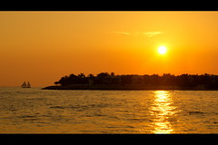 Sunset In Key West.... (Minkn) Tags: ocean blue sunset red sea wild usa sun west color nature yellow norway america palms keys landscape boat norge us key warm waves sailing colours florida sony palm burning american arne per in a55 sal18250 minkn slta55v