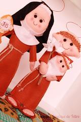 Santa Clara e Santo Antônio (| Boutique do Feltro |) Tags: clara handmade felt feltro em anta santo antônio