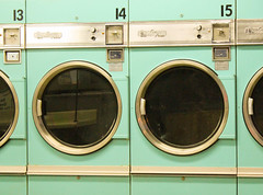 Washing Machines (BradPerkins) Tags: green circle oldschool numbers laundry coinslot washingmachines coinoperatedmachines