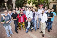 The attendees - posed (Bill Davies (SA)) Tags: gay party simon dave frank brandon craig steven conrad vaughan hein bachelors hendrick bachelorsparty wynand kerron montecasino kranc vaughansbachelors hyndaiballoon