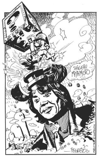 Shigeru Miyamoto, obra de Duncan Fegredo