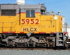 HLCX#5952 CAB FORWARD MAUMEE,OHIO 9-21-10 MONDAY (penn central 74) Tags: unionpacific hlcx maumeeohio helmleasing armouryellow emdsd60 092110 hlcx5952