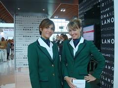 Alitalia, bellissime! (Nuccia-Isalei) Tags: travel rimini hostess turismo viaggi alitalia 2012 fiera ttg agenzia isalei