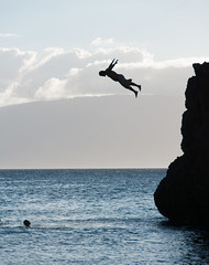 Cliff Jumping (b0ssk) Tags: beach hawaii maui cliffjumper