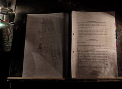 At the prompter`s place, in the prompter box (hedbavny) Tags: vienna wien arizona art work dark giant buch austria book licht sketch sterreich waiting wasser theater artist hand darkness theatre rehearsal drawing leer kunst text probe doodle