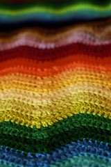 Rainbow Ripple Stitch Crochet Scarf (rosiemrogers) Tags: blue winter red orange black green wool yellow scarf grey warm colours purple crochet violet multicoloured wave yarn scarves crocheted ranbow ripplestitch