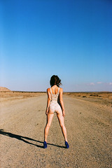 (zachmccaffree) Tags: road film girl 35mm landscape