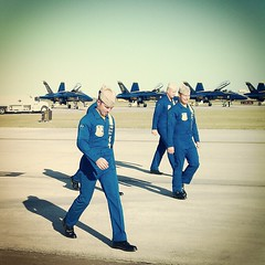 Post Demo walk (marvinsmith) Tags: blue wings over navy houston airshow angels f18 pilot flickrandroidapp:filter=none