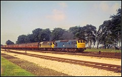 5233 and 7557 Trent 30Jun73 (david.hayes77) Tags: trent sulzer type2 5233 7557 25083 25207 class25 agfabilly thejollyfisherman trentjunction