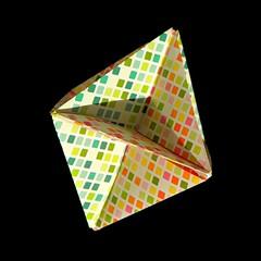 XYZ (Aneta_a) Tags: origami planar modularorigami kusudama octahedralsymmetry