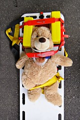 Medical Emergency (The Stig 2009) Tags: bear teddy o tony 09 2009 stig stretcher 2012 thestig tonyo