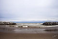 The Edge of Mother Nature (CJ Schmit) Tags: beach water wisconsin canon sand rocks waves sandy hurricane lakemichigan milwaukee whitefishbay breakwater highwinds canonef1740mmf40lusm 5dmarkii canon5dmarkii cjschmit wwwcjschmitcom cjschmitphotography klodebeach