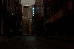Lights Out (Several seconds) Tags: nyc newyork dark downtown chinatown sandy hurricane blackout powerout lightsout hurricanesandy