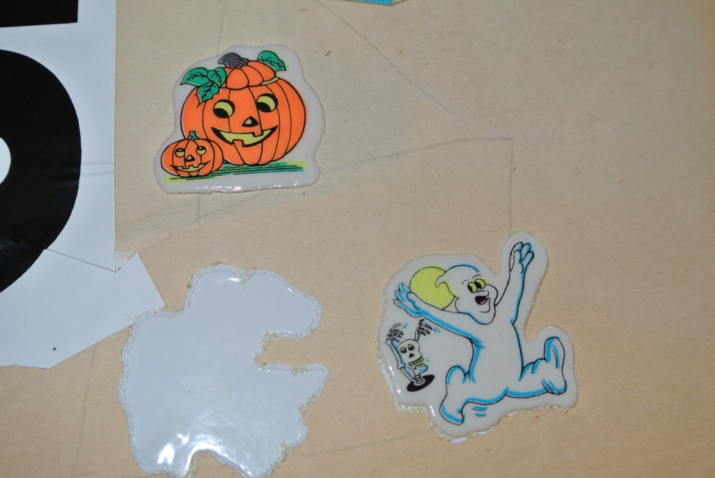 Vintage Puffy Halloween Stickers (jadedoz) Tags: halloween vintage pumpkin  sticker ghost stickers australian