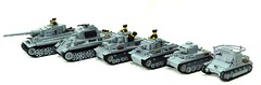 the panzer family (BeLgIuM ww2 bUiLdeR) Tags: 2 6 3 1 lego 5 tiger iii 4 wwii v ii ww2 panther iv tanks panzer i brickarms